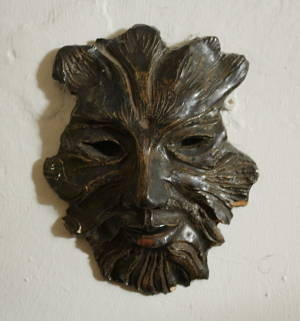 ceramic green man mask