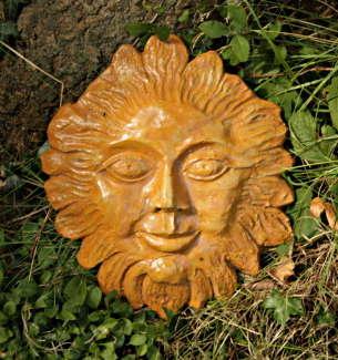 ceramic sun face