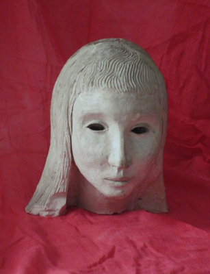 ceramic white goddess mask thumbnail