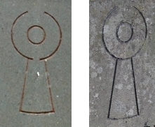 the symbol on the gravestones