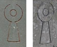 the symbol on the gravestones