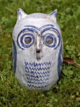 Ceramic owl by Ronald M. White