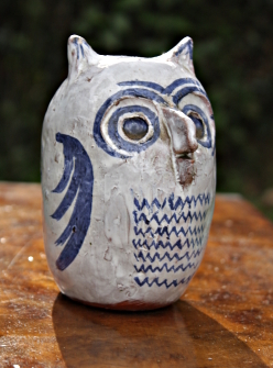 Ceramic owl made by Ronald M. White